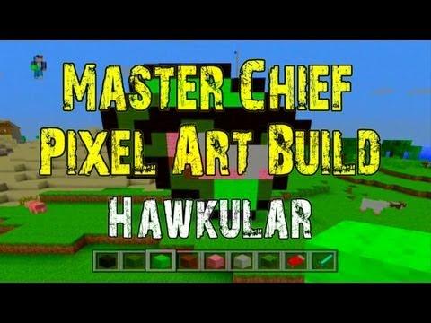 Minecraft 360: Master Chief Pixel Art Tutorial!