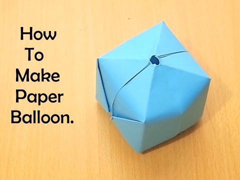 How To Make Origami Balloon?!!?!