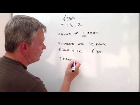 How to calculate ratio - sharing money GCSE question