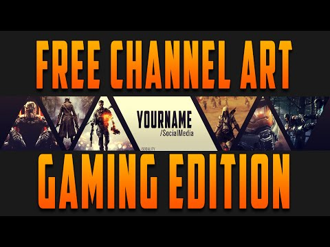 free template 2 gaming channel art playithub largest videos hub