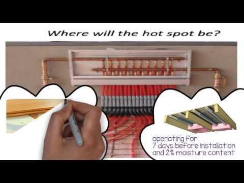 Above Grade Radiant Floor Heat System With Wood Subfloor