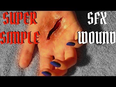 SFX TECHNIQUES | Simple SFX Cut Tutorial | Scar Wax Wound \ DIY Scar Wax