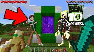 HOW TO MAKE A PORTAL TO THE BEN 10 DIMENSION - MINECRAFT BEN 10 OMNIVERSE