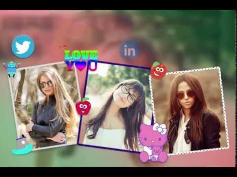 Blur Background Photo Collage Video