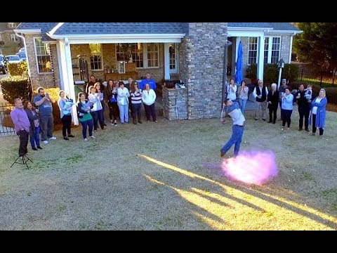 Exploding Pink Golf Ball - It's a Girl!