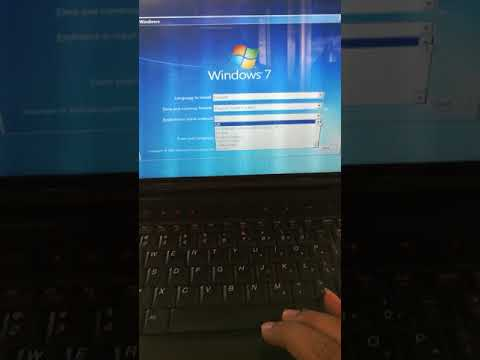 How to boot Lenovo IdeaPad laptop with Windows 7 ultimate.