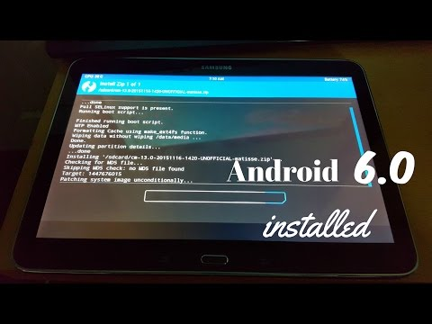 Samsung Galaxy Tab 4 10.1 T530 Root & Install Android 6.0 Marshmallow