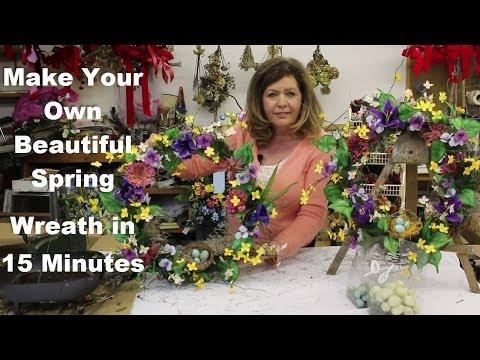 Silk Flower Wreath | Learn to Make a Spring Silk F