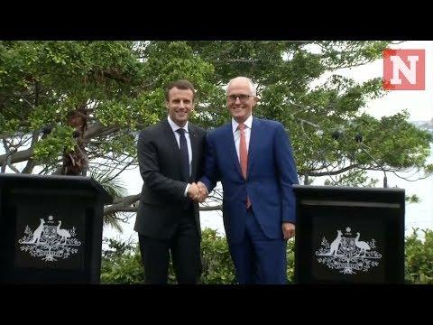 Macron thanks Australian Prime Minister's