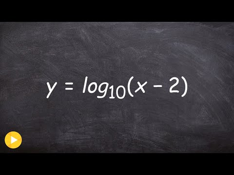 Graphing a logarithmic function with transformations