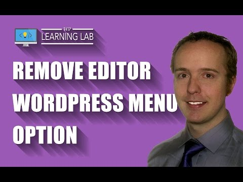 Remove Editor WordPress Menu Option Under The Appearance Menu - WordPress Security | WP Learning Lab