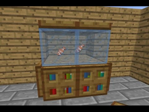 How to make a Fish Tank in Minecraft! [UPDATED]