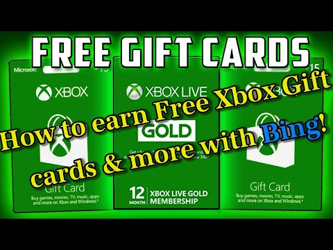 How to get free xbox gift cards & more with Bing!