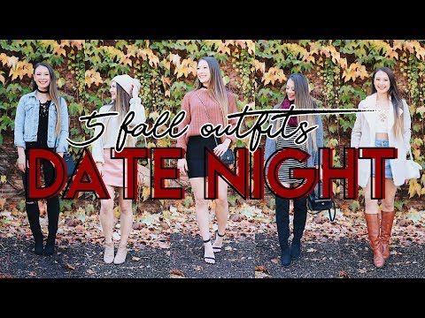 Fall Date Night Lookbook // Look CUTE and WARM! // 5 Dressy Fall Outfits