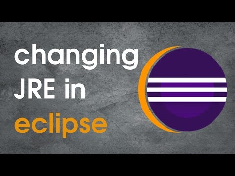 Using different JRE in eclipse other than the default one