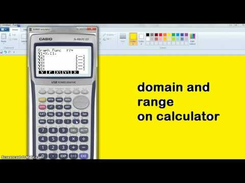 12mat domain range on calculator