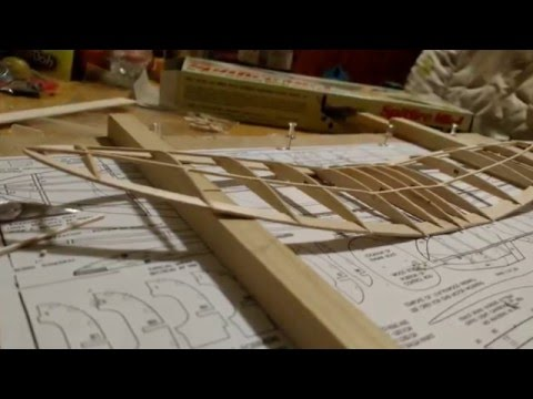 Guillow's Spitfire MK-I balsa model airplane build