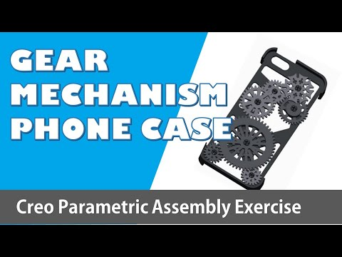 creo parametric | assembly or mechanism of gear train case design tutorial