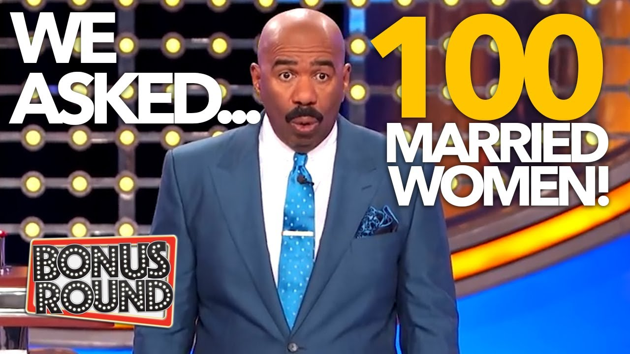 WE ASKED 100 MARRIED WOMEN! 1HR FUNNY ANSWERS & MORE With Steve Harvey On Family Feud USA