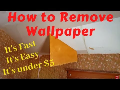 How to Remove Wallpaper with Water and Vinegar