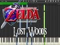 Zelda Ocarina Of Time - Lost Woods (Synthesia)