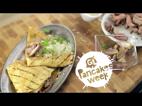 Crepes with Beef, Caramelized Onions and Parmesan || Pancake Week || GastroLab