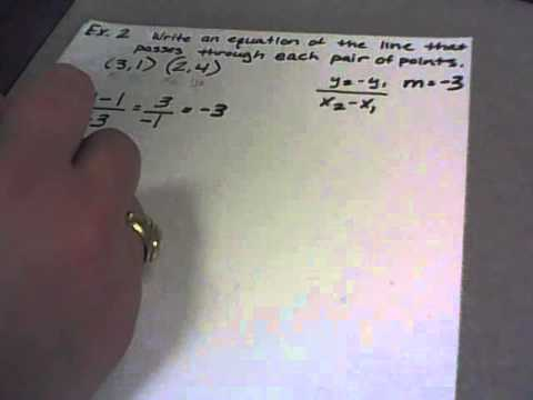 Writing Slope-Intercept Equations with only Two Ordered Pairs