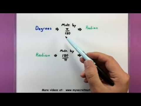 Trigonometry - How to convert between radians and degrees