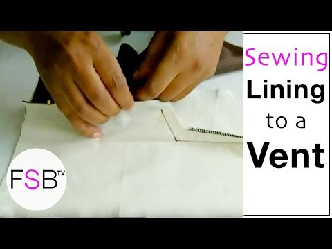 Sewing Lining to a Vent