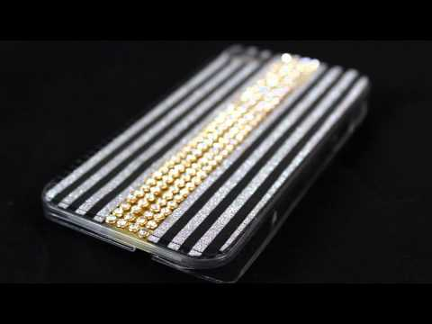 Flashing Rhinestone Bling Cases for Apple iPhone 4 and iPhone 4s