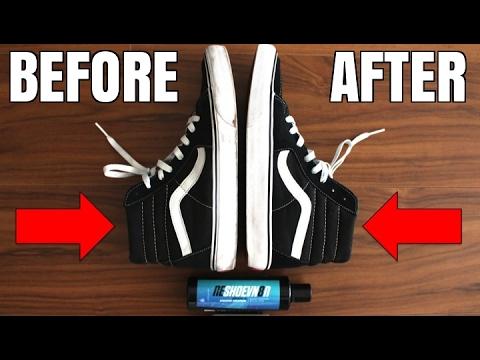 How To: Clean Dirty Vans Sk8 Hi | Make Vans White Again! | Clean White Sneaker Midsoles DIY Tutorial