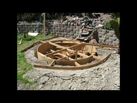 How To Build Backyard Concrete Pond or Pool - Part Five Forming