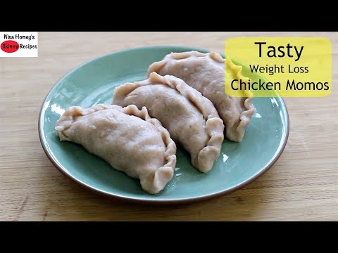 The BEST Chicken Momos With Rice Flour For Weight Loss - Low Calorie/Almost Oil Free -Skinny Recipes