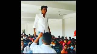 college attitude of boy in college (Student power 💪)New viral video of college boy.