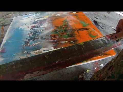 Instructional. Learning 12 Acrylic Abstract Painting Techniques (HD) by Jan van Oort