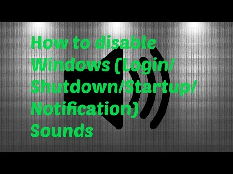 How to Disable Windows Sounds