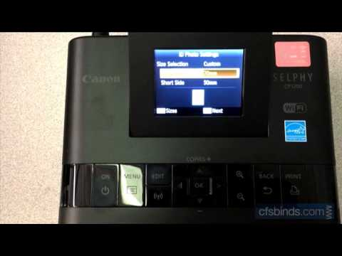 How To Enable Passport Photo Sizes on the Canon CP1200 Photo Printer