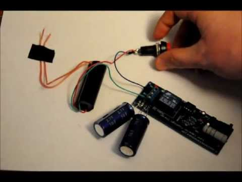 The Super Capacitor Based 30kv Taser Stun Gun Prototype - Fast Rechargeable - 5.3v to 30kv.wmv