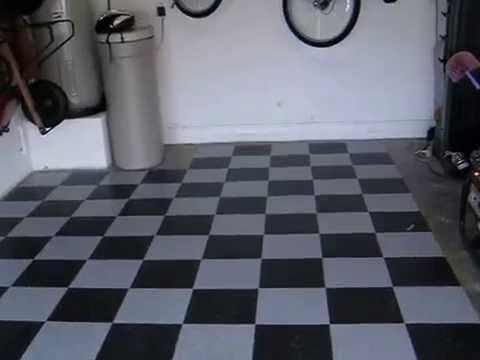 Armstrong Garage Floor Black and Gray Checker VCT Tile