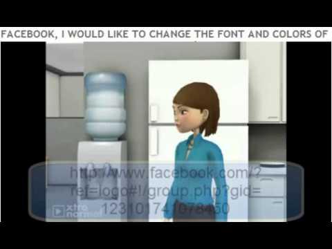 Facebook change font.wmv