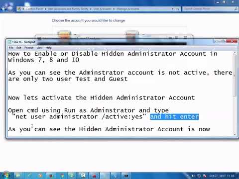 How to Enable or Disable Hidden Administrator Account in Windows 7, 8 and 10