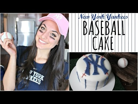 New York Yankees Baseball Cake   NICKI LEE BAKES