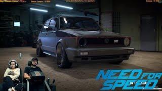 Ночное жогово на древнем Wolksvagen Golf GTI Need for Speed 2015/2016