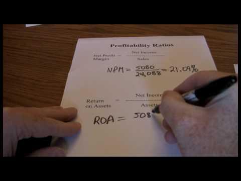 Financial Ratios -- Profitability