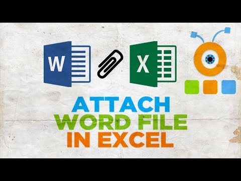 How to Attach an Word File in Excel