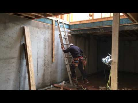 Framing basement stairs