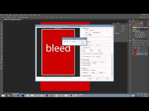 Create a print-ready PDF with bleeds inside Photoshop