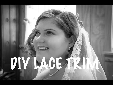 DIY Lace Trim on Wedding Veil | DIY by Fran