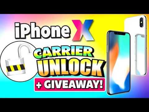 How to UNLOCK iPhone X + GIVEAWAY!!! (iPhone X Carrier/Network Unlocked!) 2017/2018