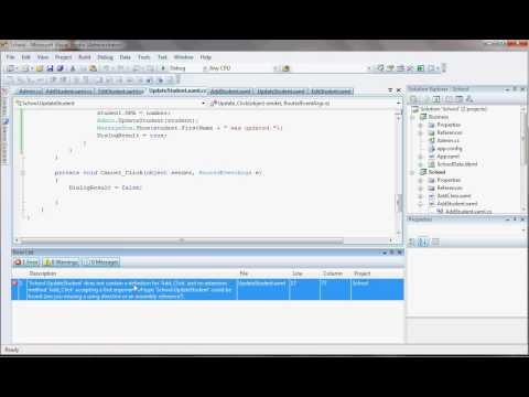 Tutorial 20 - Visual Studio 2008, Linq to SQL, C#, and WPF